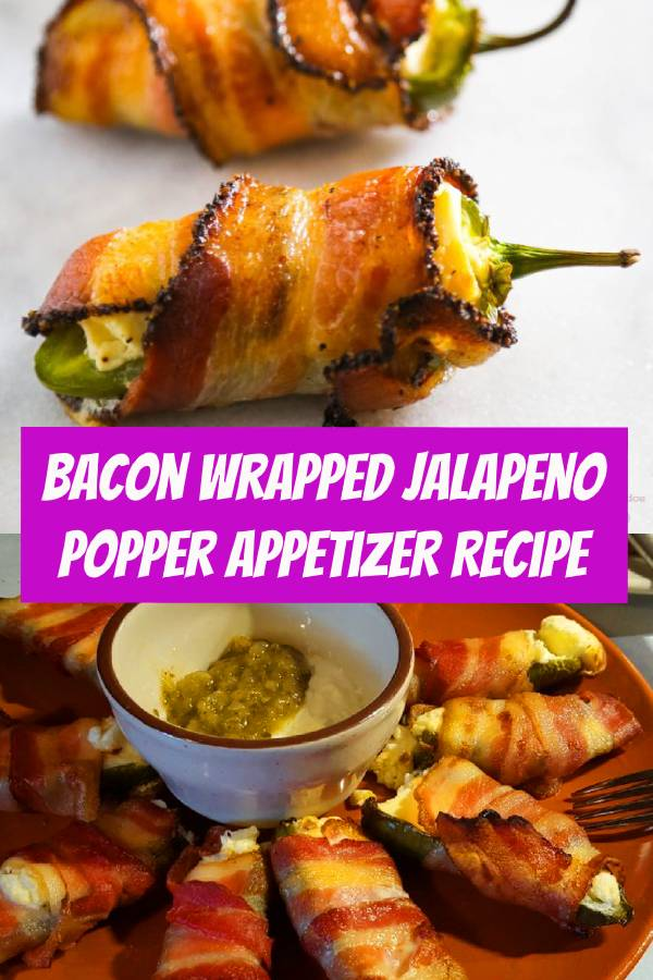 This bacon wrapped jalapeno popper recipe is so EASY and yet so delicious! If you're having guests over try this appetizer recipe #bacon #jalapeno #jalapenopopper #appetizer