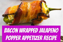 Bacon Wrapped Jalapeno Popper Appetizer Recipe #bacon #jalapeno #jalapenopopper #appetizer