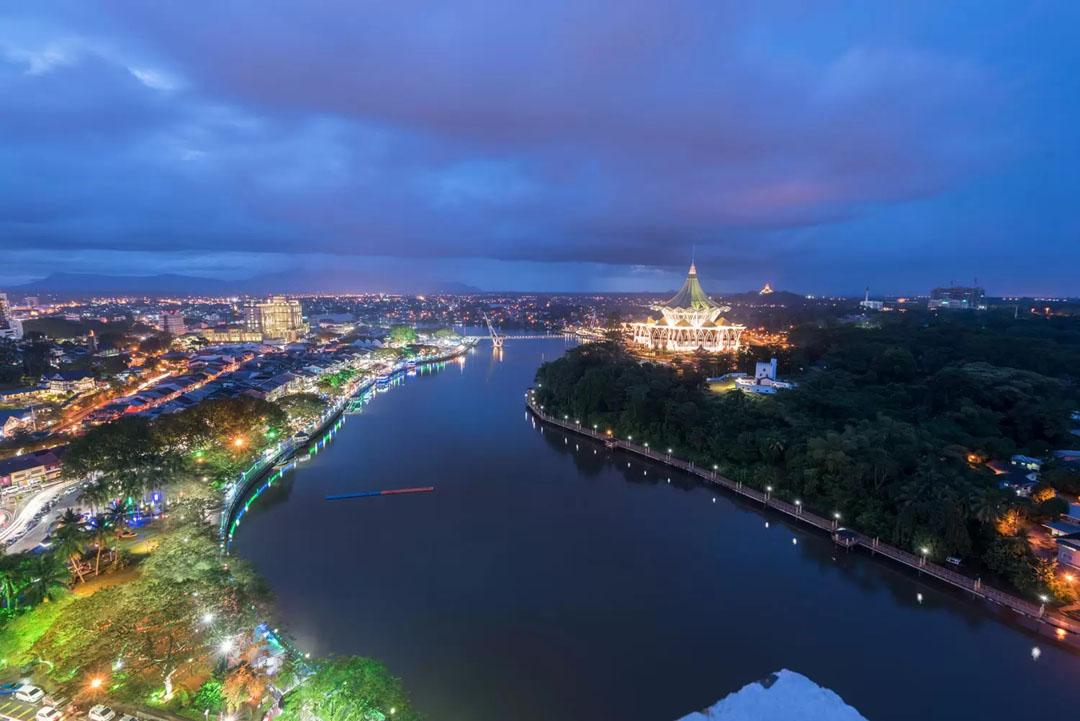 Darul Hana Bridge - Waterfront, Kuching