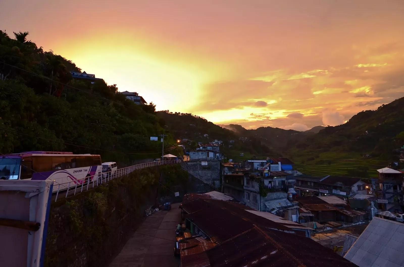 Poblacion Sunset Ifugao Cordillera Administrative Region Philippines