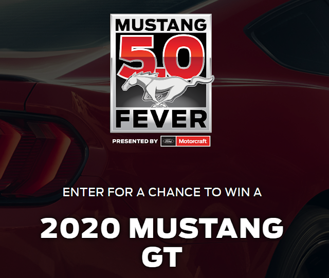 Motorcraft is presenting you a chance to enter once to win a 2020 Mustang GT in their Mustang Fever Sweepstakes!