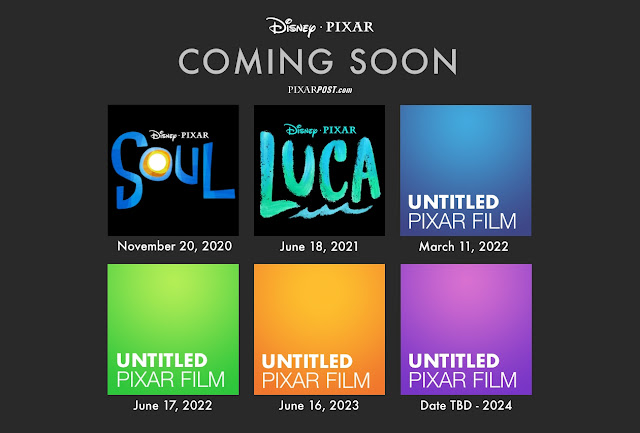 Upcoming Pixar Films