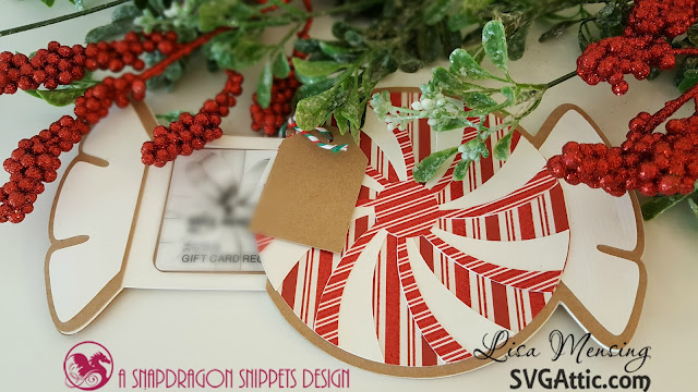 SVG Attic Gift Holder using JGW HoHo Holiday Collection