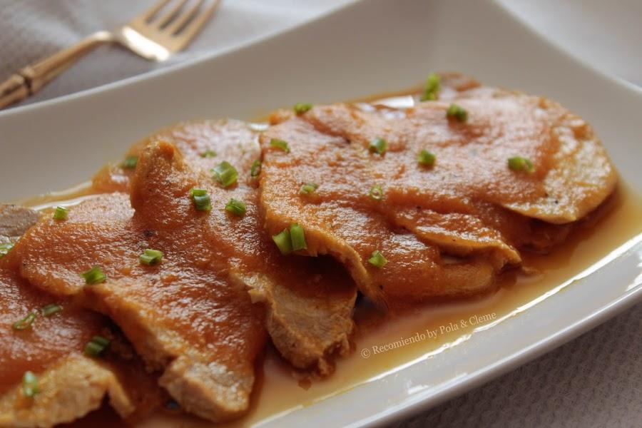 Receta Carne de Cerdo en Salsa de Zanahoria