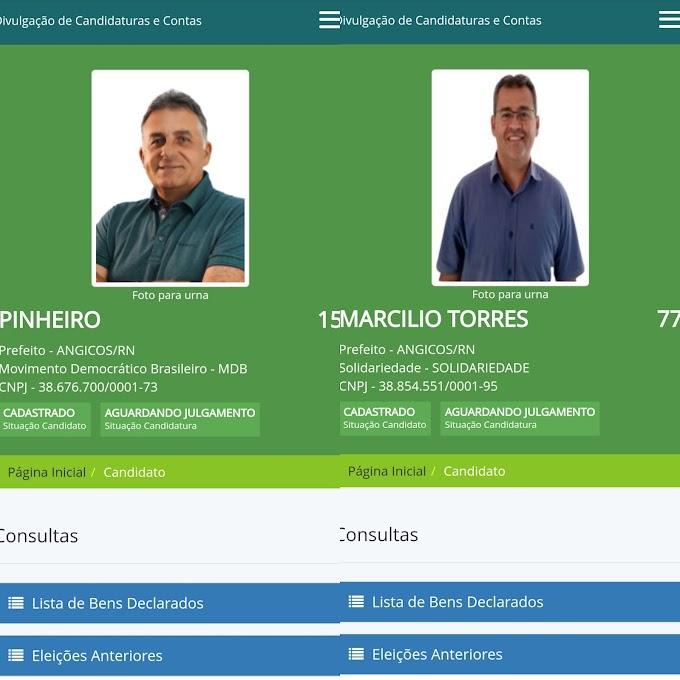 Marcílio e Pinheiro são os primeiros a pedirem registro de candidatura a prefeito de Angicos no site do TSE