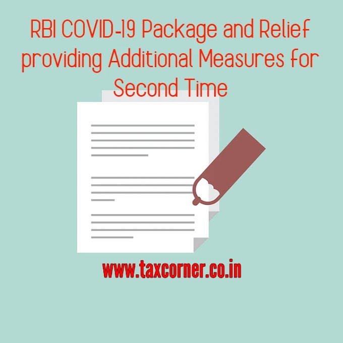 RBI COVID-19 Package and Relief providing Additional Measures for 2nd Time