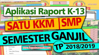 Aplikasi Raport Kurikulum 2013 Satu KKM | SMP