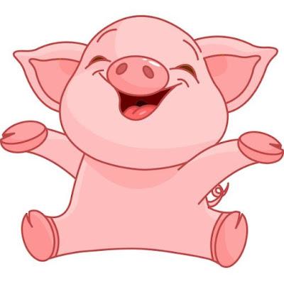 gambar kartun babi