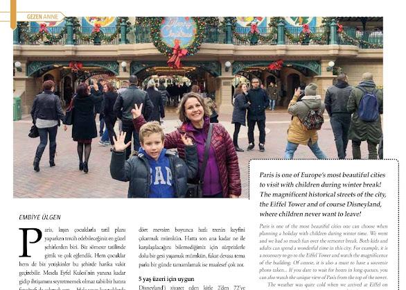 Noel öncesi ve sömestrde Paris Disneyland çok renkli