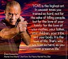 "Dan Inosanto ""Love is the highest art."""