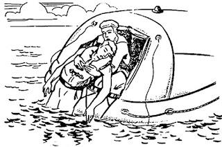 Спасение людей оказавшихся в воде после аварии судна