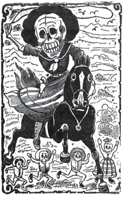 José Guadalupe Posada Caveira revolucionária