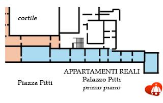 Mappa Appartamenti Reali - Palazzo Pitti