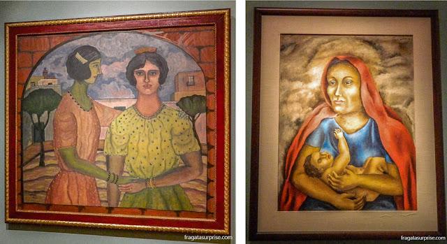 """Abraham Ángel, """"Lupe e Maria"""" e """"Maternidade"""", de Maria Izquierdo, no Museu de Arte Moderna do México"""