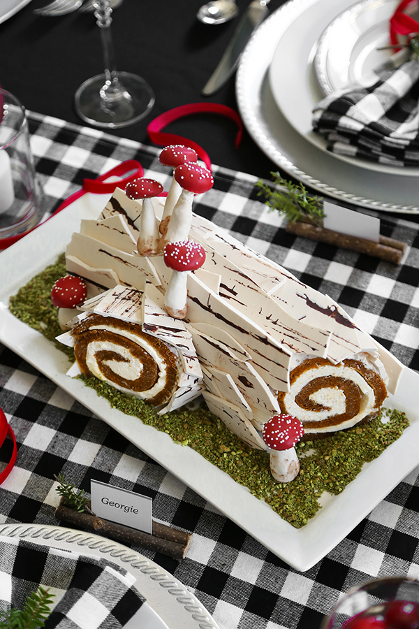 Birch Yule Log Cake