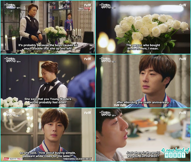 ji won ask the made about those white flower is ha won brought them - Cinderella and Four Knights - Episode 7 Review - I Love Her, I Love Her Not