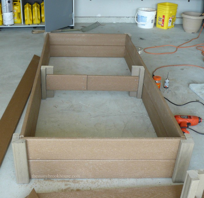 2nd layer of boards for planter boxes