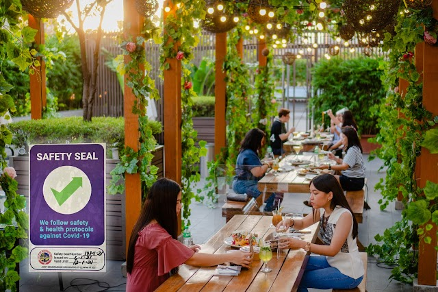 Shang's Dine Al Fresco at The Ledge receives Safety Seal