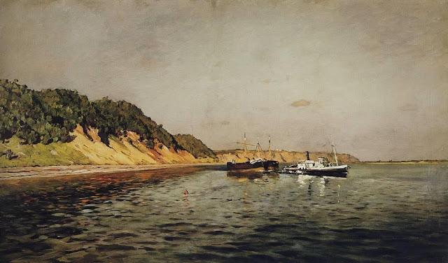 Исаак Ильич Левитан - Волга. Тихий день. 1895