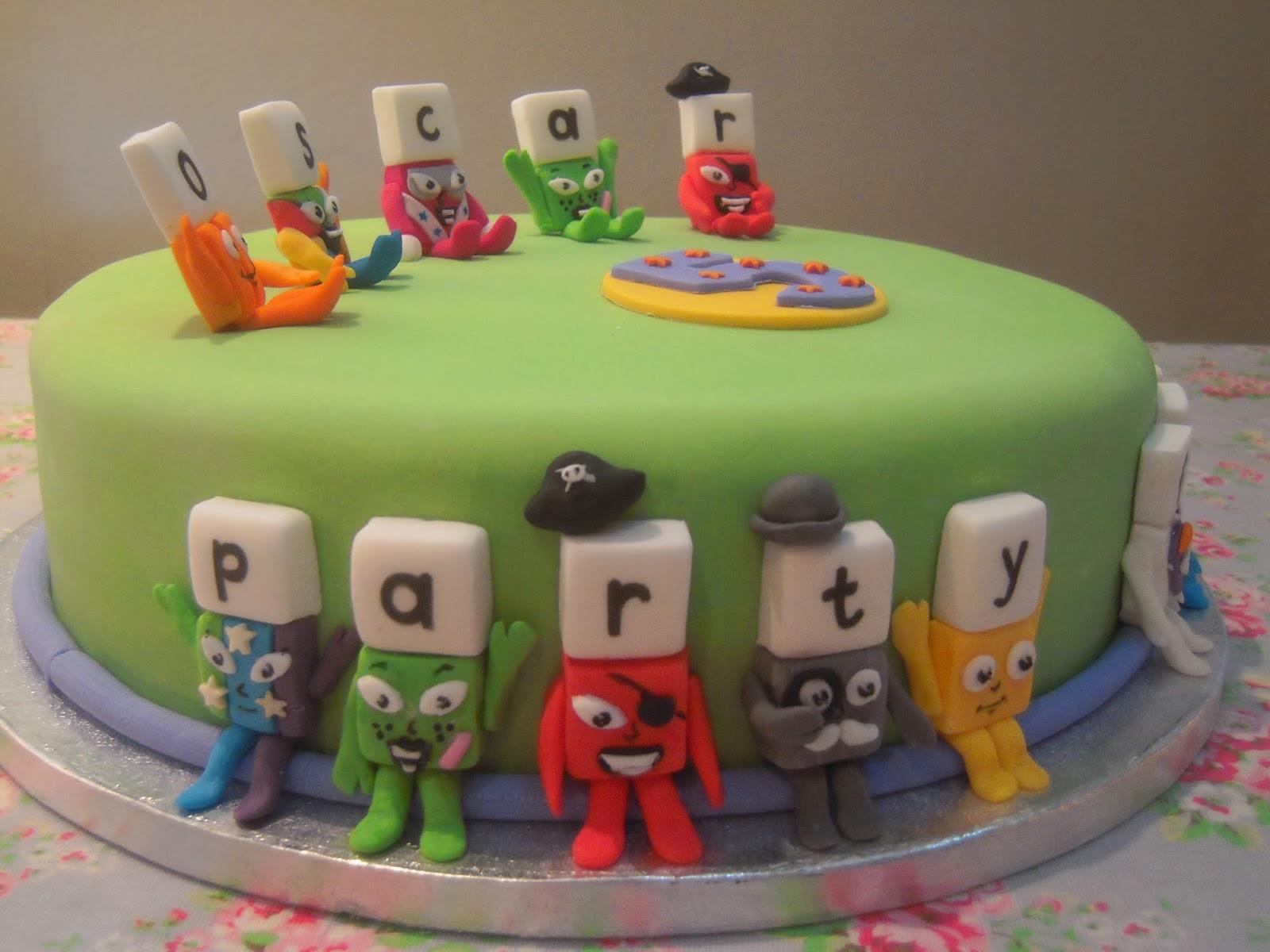 Alphablocks Birthday Cake