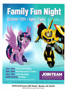 McDonald's Family Fun Night Flyer