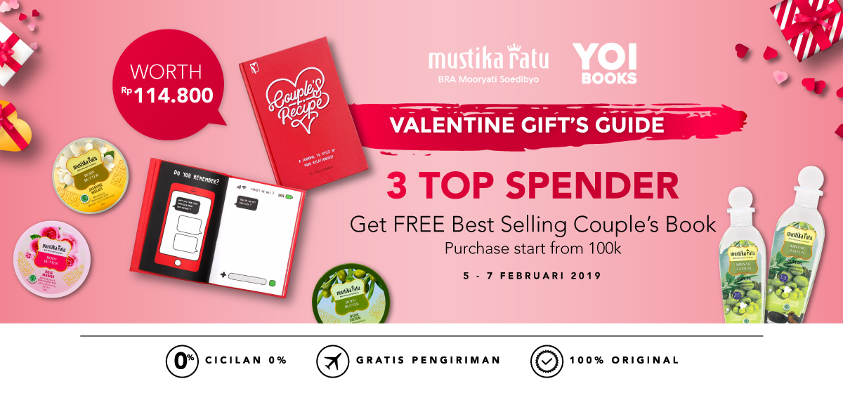 #Blibli - #Promo Mustika Ratu 3 Top Spender Free Best Selling Couple's Book (s.d 07 Feb 2019)