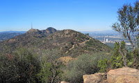 View west from Mt. Bell toward Mt. Lee and Cahuenga Peak