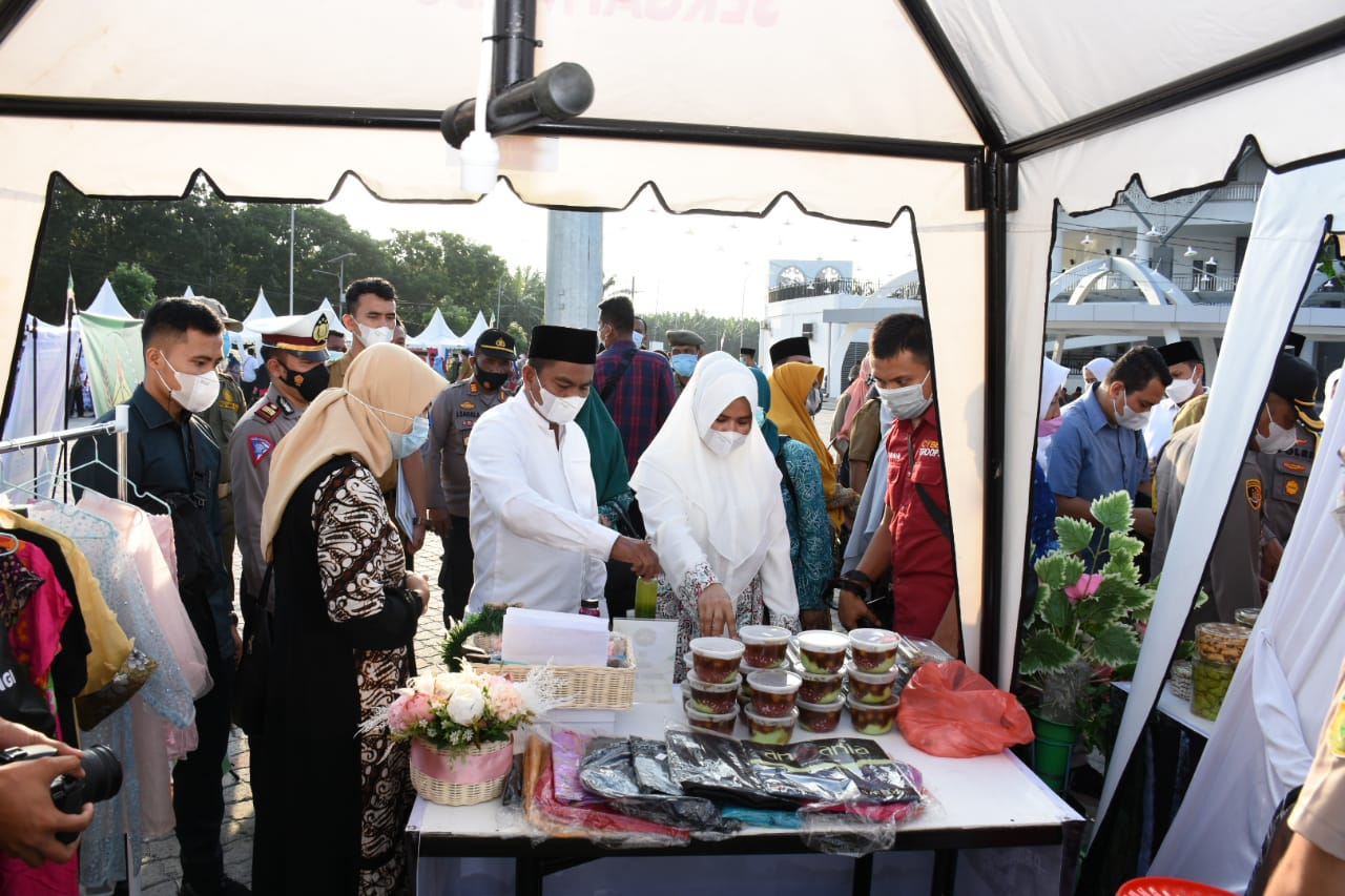 Bupati Bersama Wabup Sergai Membuka Kampung Ramadhan