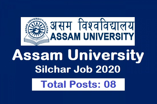 Assam University, Silchar Job 2020 8 posts