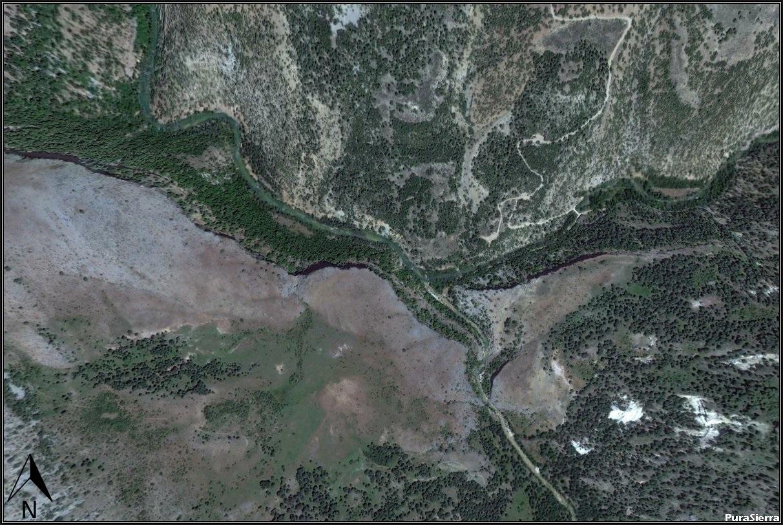 Fotografía aérea lejana de Las Juntas