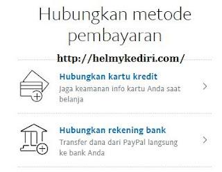 Menghubungkan bank lokal ke akun paypal