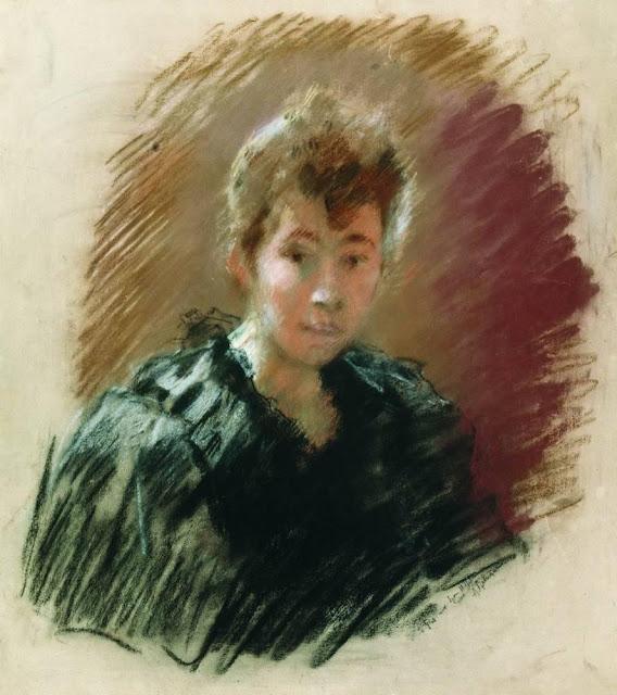 Исаак Ильич Левитан - Портрет С.П. Кувшинниковой. 1894