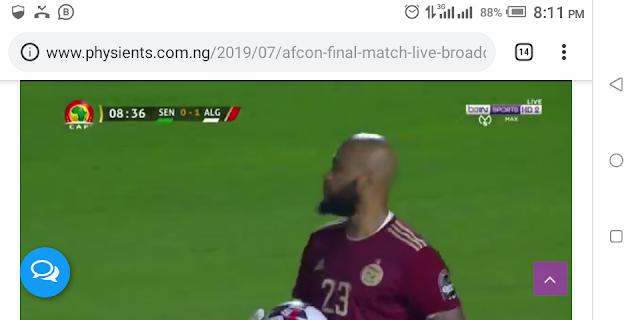 AFCON FINAL MATCH: LIVE BROADCAST SENEGAL VS ALGERIA
