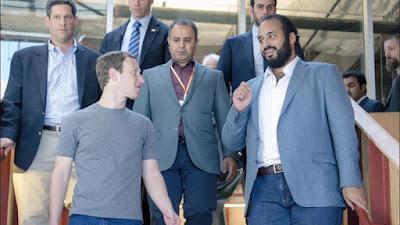 محمد بن سلمان مع زوكربرج