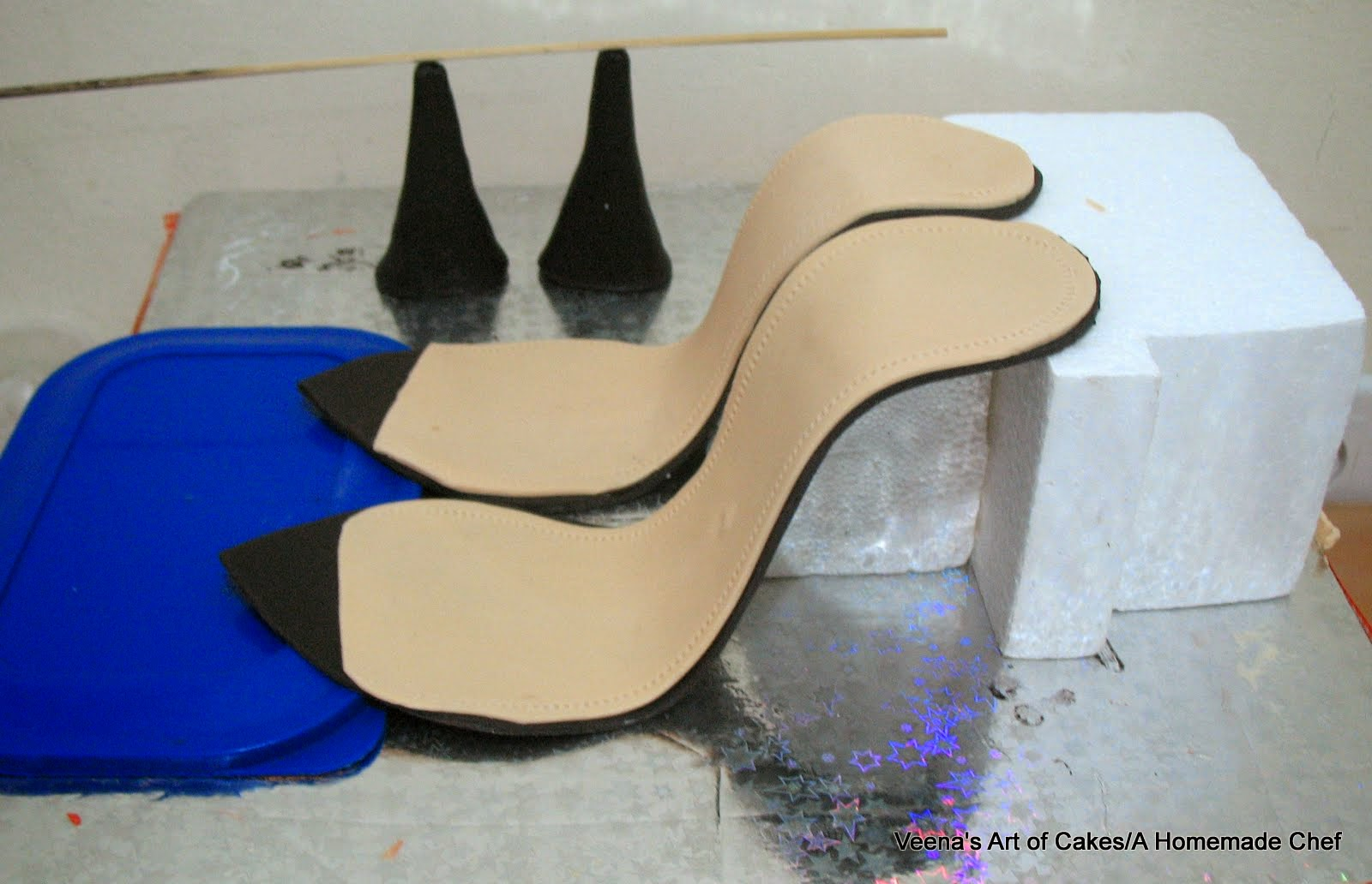 How to make a Gum Paste Stiletto Shoe  Veena Azmanov