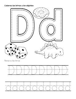 Trazos del abecedario letra D