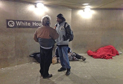 Interviewing homeless people in Washington, DC Metro