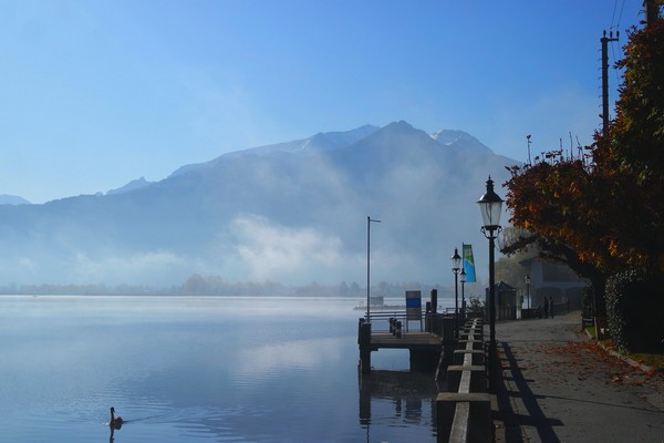 autriche salzbugerland zell am see village lac brouillard