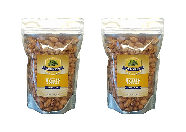 Butter Toffee Almonds Fresh Gourmet Sweet and Salty Crunch