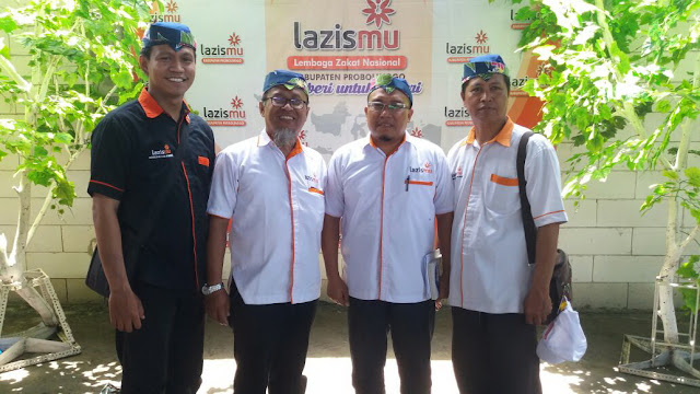 Team Lazismu Jember bersama ketua BP Lazismu Kab. Probolinggo sebagai tuan rumah