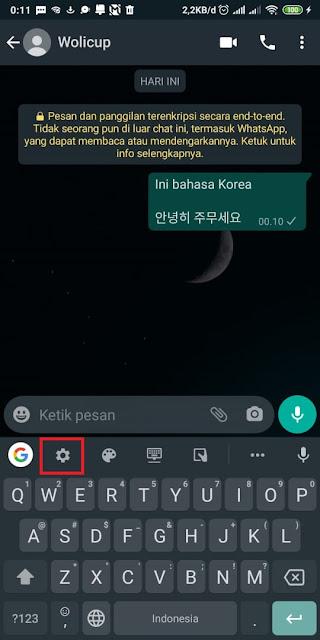 Cara Membuat Tulisan Korea Di WA Tanpa Aplikasi 3