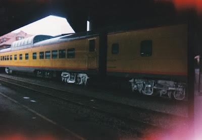 "Union Pacific Dome Dining Car #7011 ""Missouri River Eagle"" at Union Station in Portland, Oregon"