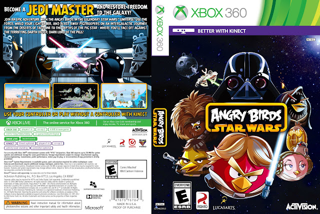 Capa xBox360 Angry Birds Star Wars