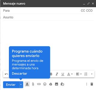 Cómo programar el envío de correos electrónicos a una determinada fecha y hora con Gmail