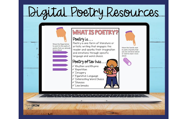 at home and distance learning poetry ideas