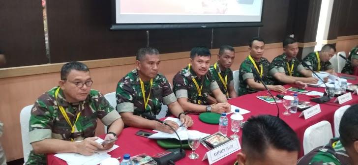 KAPENREM 141 BONE  HADIRI RAKORNIS PENERANGAN TNI TAHUN 2020 DI MABES TNI