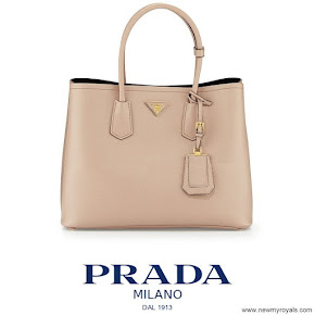 Crown Princess Mary carried Prada Saffiano Cuir Double Bag
