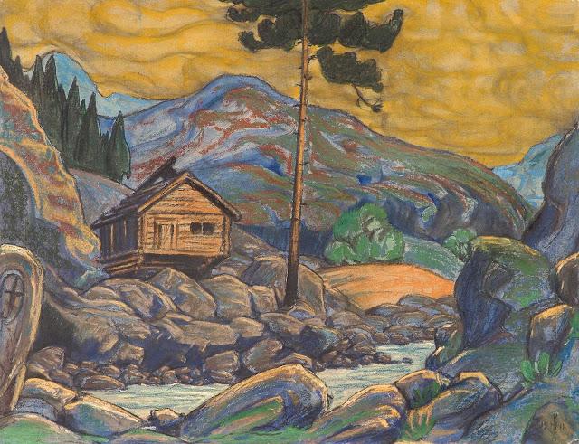 Николай Рерих - Избушка в горах