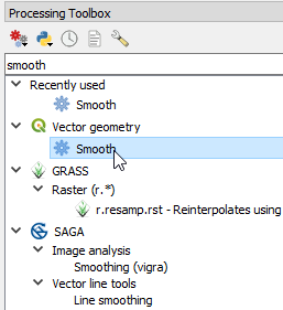 Vector geometry smooth tool