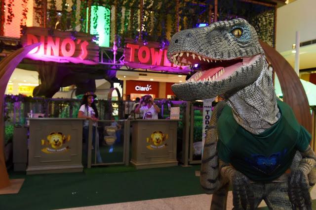 Dino's Tower no Shopping Recife   Shopping Recife recebe o parque temático Dino's Tower